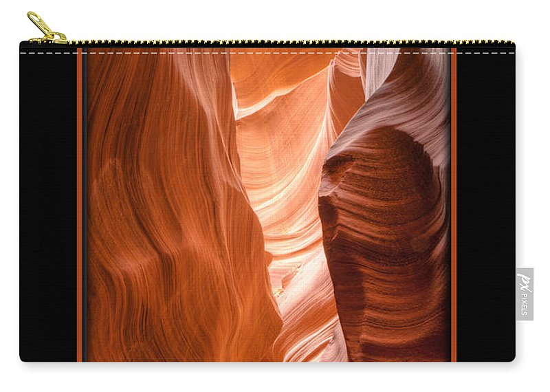 Antelope Canyon Carry-all Pouch featuring the photograph Lower Canyon 2 by Larry White