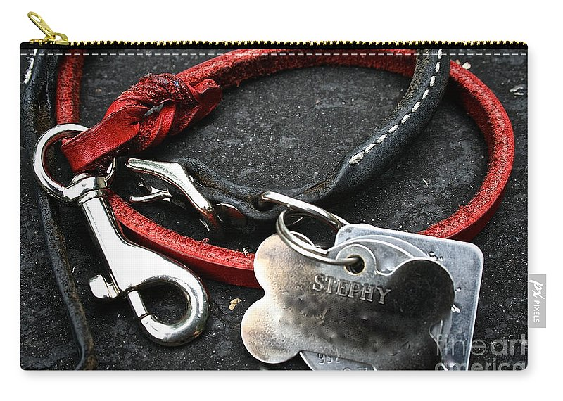 Dog Carry-all Pouch featuring the photograph Lucky Red Lead by Susan Herber