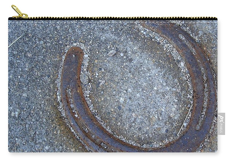 Farm Carry-all Pouch featuring the photograph Lucky Shoe by Kerri Mortenson
