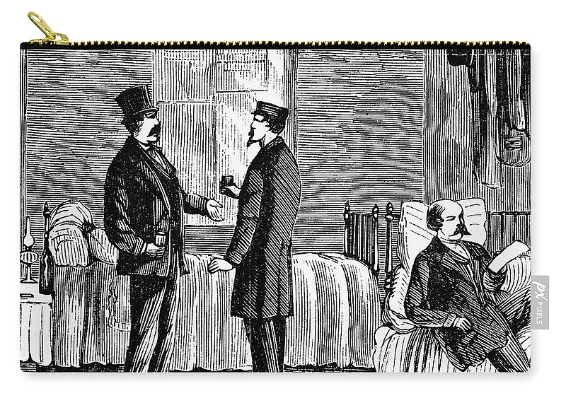 1868 Carry-all Pouch featuring the photograph Ludlow Street Jail, 1868 by Granger