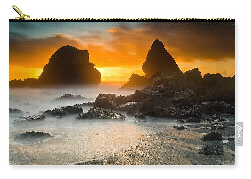 Sunset Carry-all Pouch featuring the photograph Luffenholtz Winter Sunset 1 by Greg Nyquist