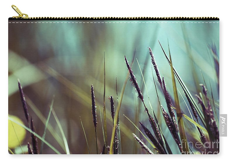 Blue Carry-all Pouch featuring the photograph Luminis 02 - S01a by Variance Collections