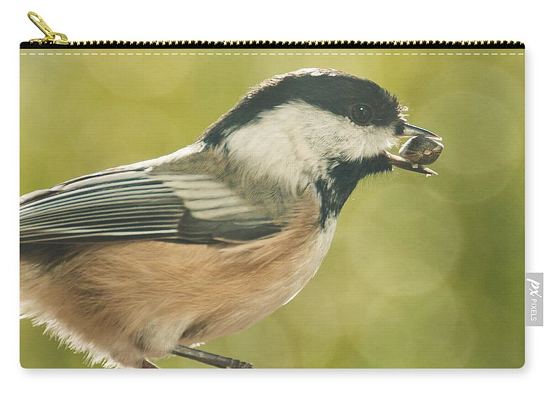 Chickadee Carry-all Pouch featuring the photograph Lunch Time by Cheryl Baxter