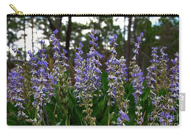 Lupine Carry-all Pouch featuring the photograph Lupine Patch by Barbara Bowen