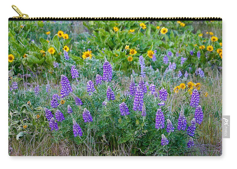 Flower Carry-all Pouch featuring the photograph Lupines by Jean Noren