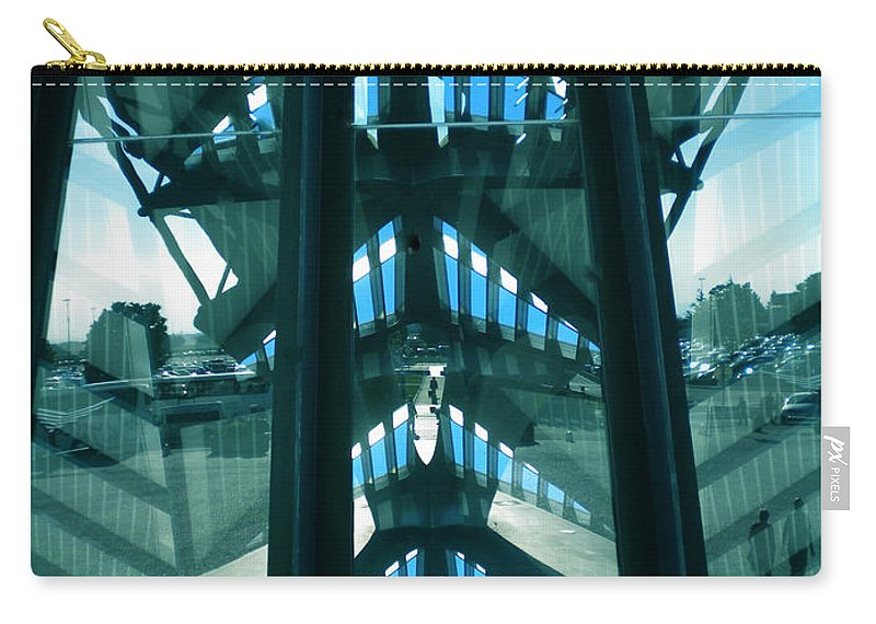 Colette Carry-all Pouch featuring the photograph Lyon Gare France Architecture by Colette V Hera Guggenheim