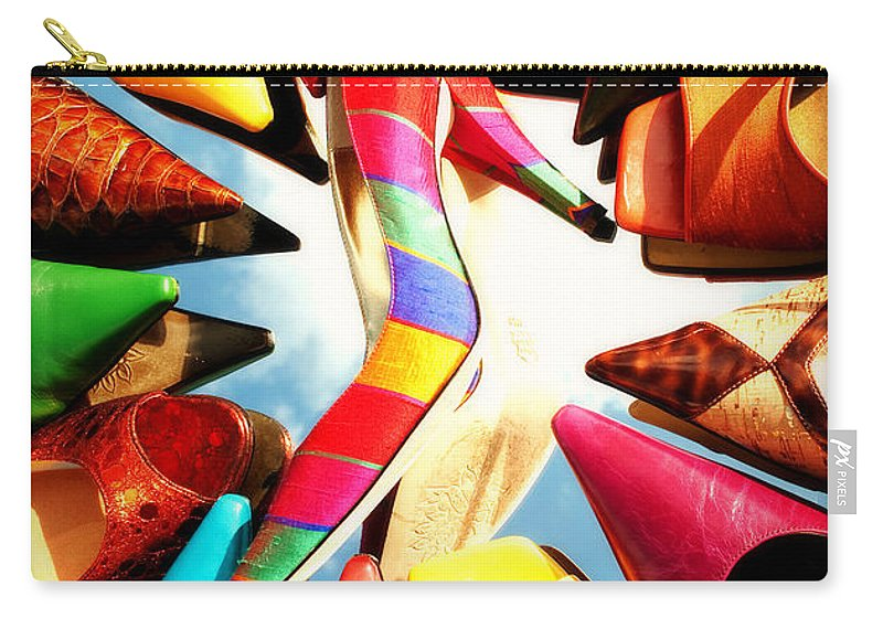 Interior Design Carry-all Pouch featuring the photograph M-m-m My Stilettos by Paulette B Wright