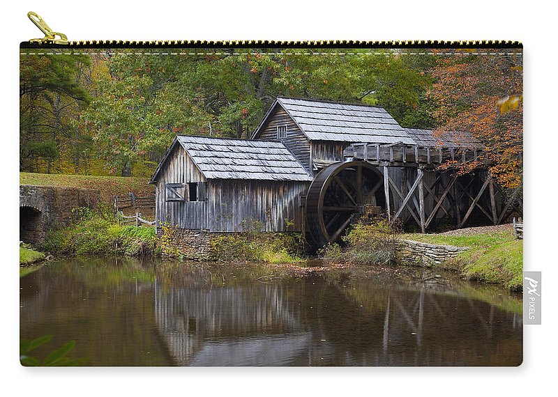 Mabry Mill Carry-all Pouch featuring the photograph Mabry Mill by Amy Jackson