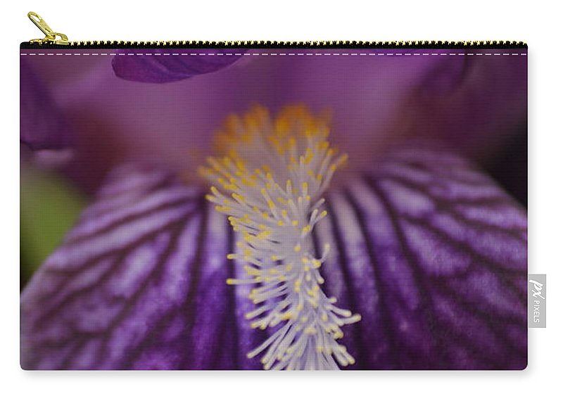 J.d. Grimes Carry-all Pouch featuring the photograph Macro In Purple by JD Grimes