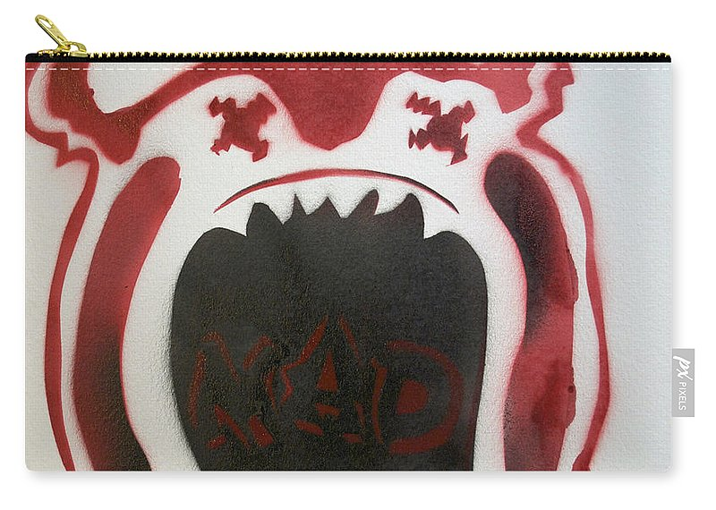Tillie Of Asbury Park Carry-all Pouch featuring the painting Mad O Rama Flamin Red by Patricia Arroyo