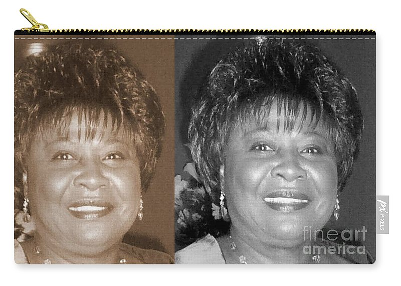 Carry-all Pouch featuring the photograph Madge's Sister Aunt Shirley by Angela L Walker