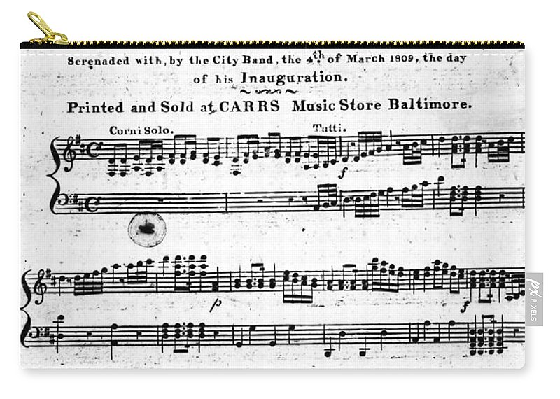 1809 Carry-all Pouch featuring the photograph Madison: Inauguration by Granger