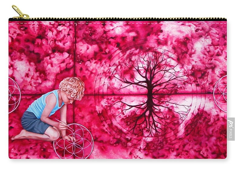 Magenta Carry-all Pouch featuring the painting Magenta by Pascal Roy