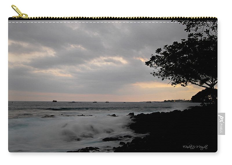 Hawaii Carry-all Pouch featuring the photograph Magic At Dusk by Paulette B Wright