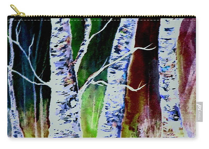 Landscape Carry-all Pouch featuring the painting Magical Woods by Brenda Owen
