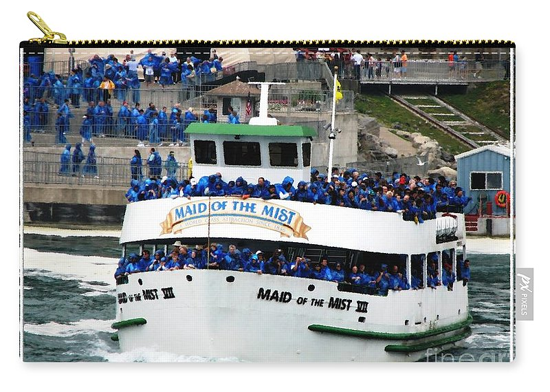 Maid Of The Mist Carry-all Pouch featuring the photograph Maid Of The Mist Boat At Niagara Falls by Rose Santuci-Sofranko