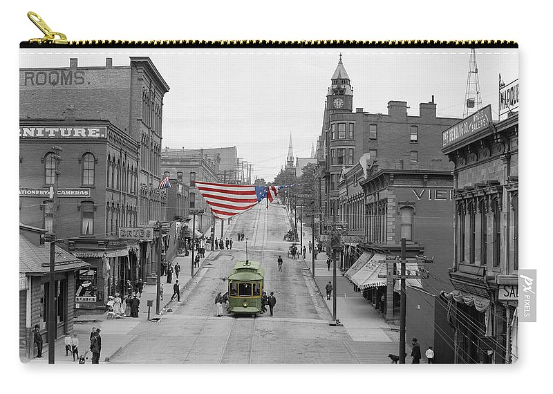 Main Street Carry-all Pouch featuring the photograph Main Street America by Andrew Fare