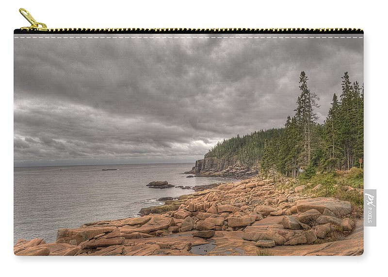 Landscape Carry-all Pouch featuring the photograph Maine Coastline. Acadia National Park by Juli Scalzi