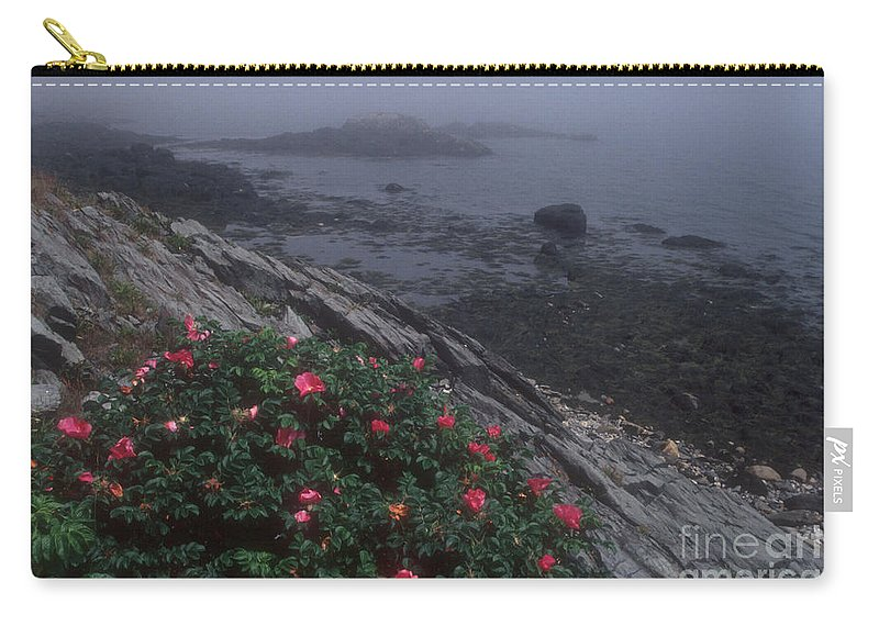 Maine Carry-all Pouch featuring the photograph Maine Coastline by Darleen Stry