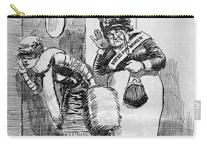 1920 Carry-all Pouch featuring the photograph Maine: Womens Suffrage by Granger