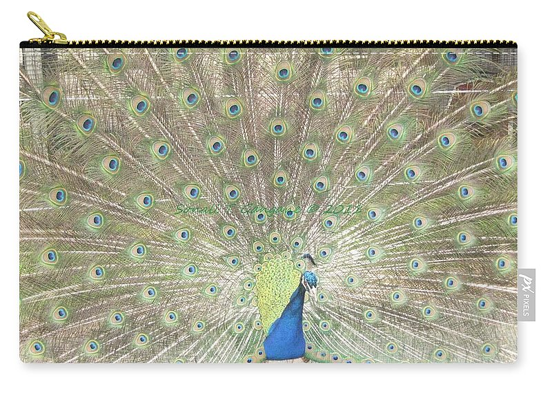 Colourful Carry-all Pouch featuring the photograph Majestic Peacock by Sonali Gangane