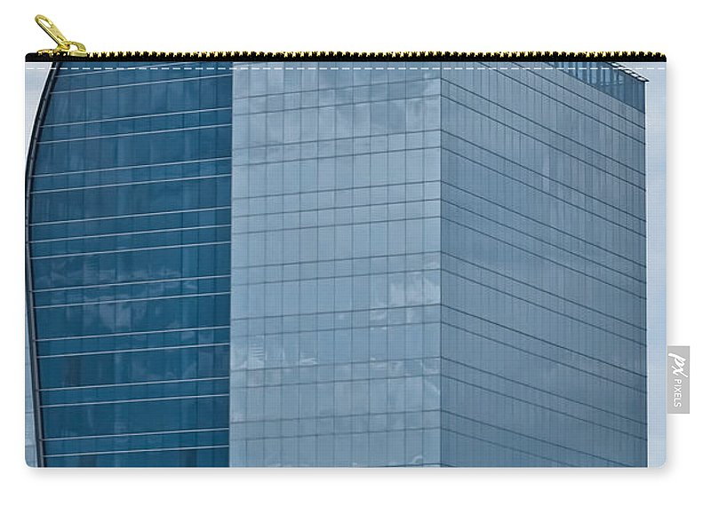 Architecture Carry-all Pouch featuring the photograph Majesty Building by DigiArt Diaries by Vicky B Fuller