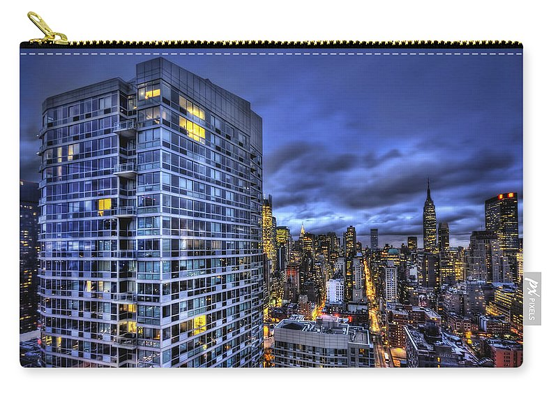 New York Carry-all Pouch featuring the photograph Major Highs And Manic Lows by Evelina Kremsdorf