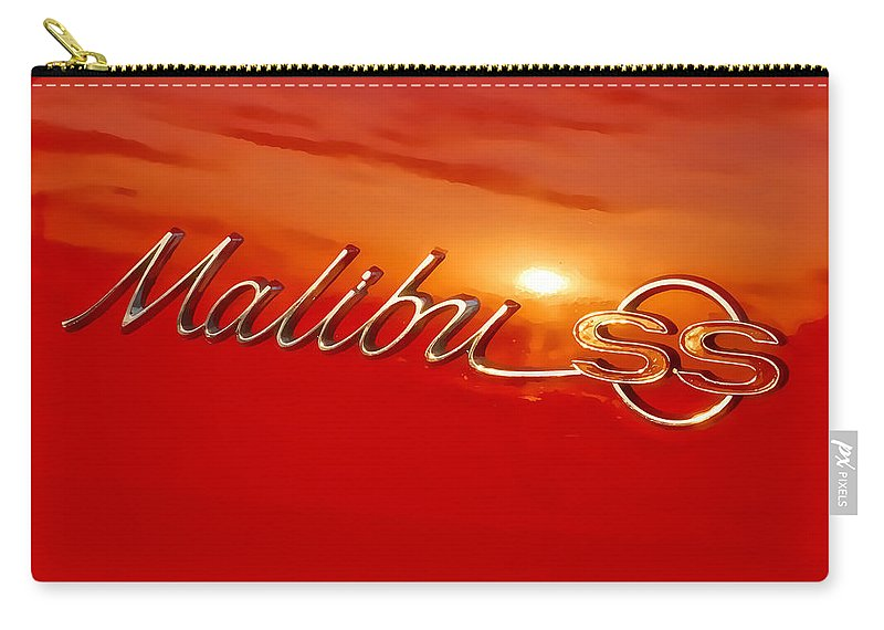 Chevy Carry-all Pouch featuring the photograph Malibu Sunset by Alan Hutchins