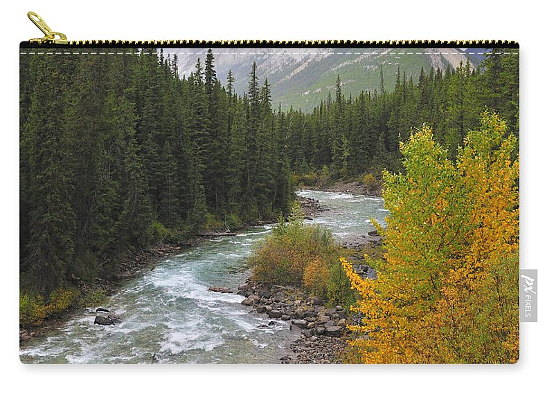 Jasper National Park Carry-all Pouch featuring the photograph Maligne River by Tony Beck