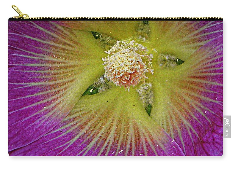 Nature Carry-all Pouch featuring the photograph Malva Middle by Chris Berry