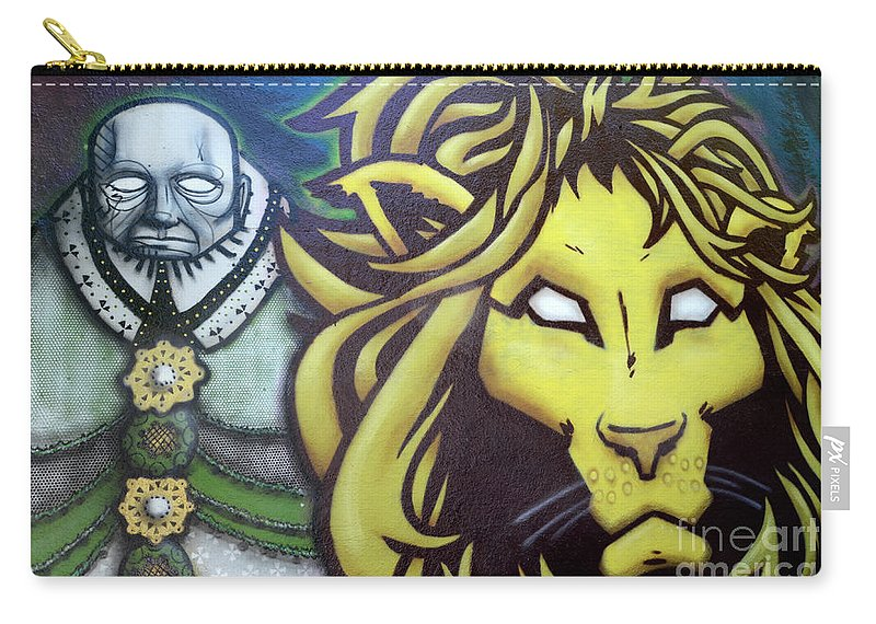 Graffiti Carry-all Pouch featuring the photograph Man And Beast by Bob Christopher