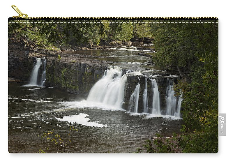 Manabezho Carry-all Pouch featuring the photograph Manabezho Falls 2 by John Brueske