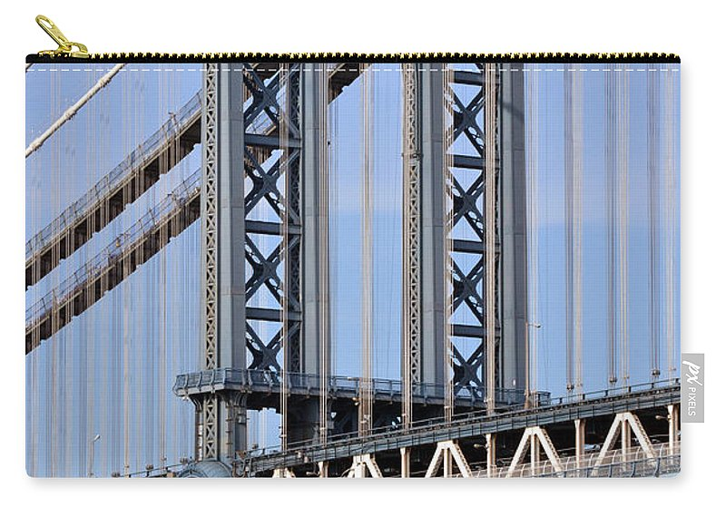 Manhattan Carry-all Pouch featuring the photograph Manhattan Bridge by Zawhaus Photography