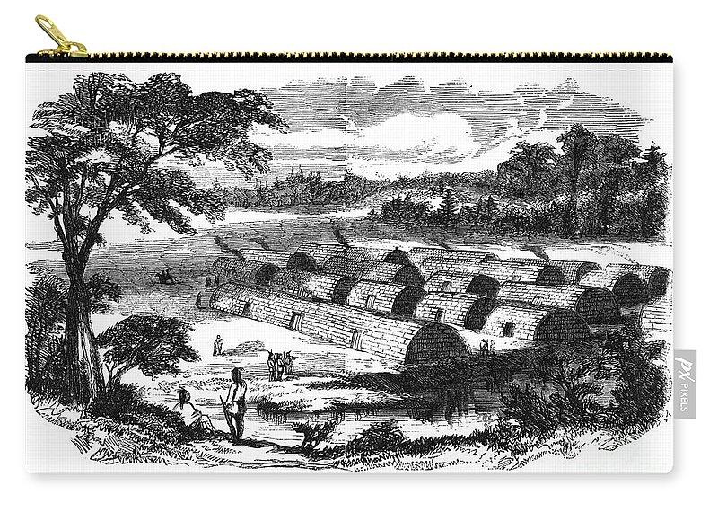 16th Century Carry-all Pouch featuring the photograph Manhattan Island, Pre-1800 by Granger