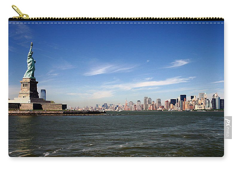 Manhattan Skyline Carry-all Pouch featuring the photograph Manhattan Skyline by Wes and Dotty Weber