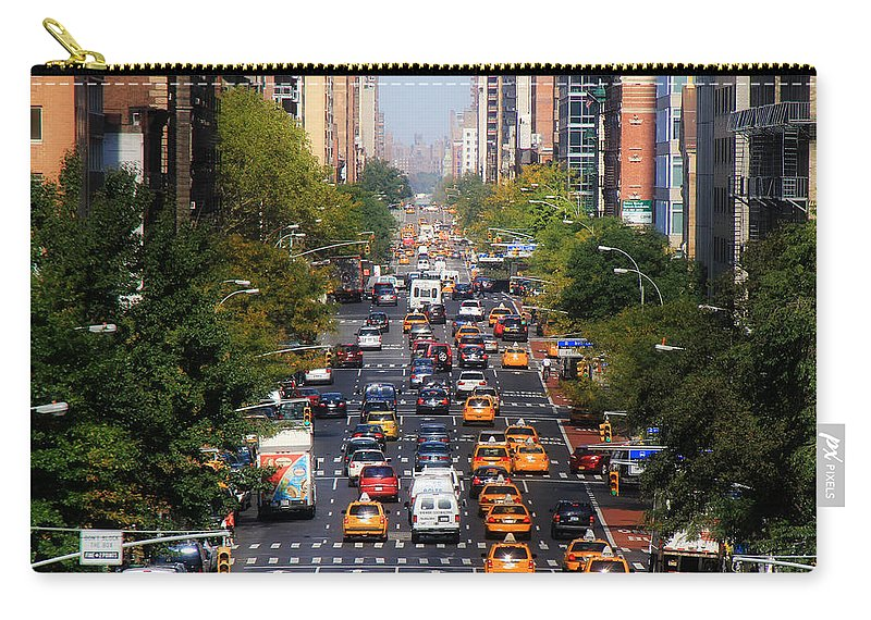 Manhattan Carry-all Pouch featuring the photograph Manhattan Street by Andrew Fare
