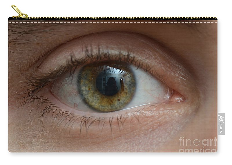 20-30 Year Old Carry-all Pouch featuring the photograph Mans Eye by Photo Researchers, Inc.