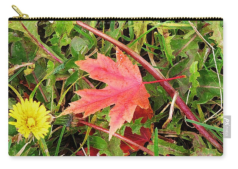 Maple Carry-all Pouch featuring the photograph Maple Leaf Forever by Ian MacDonald