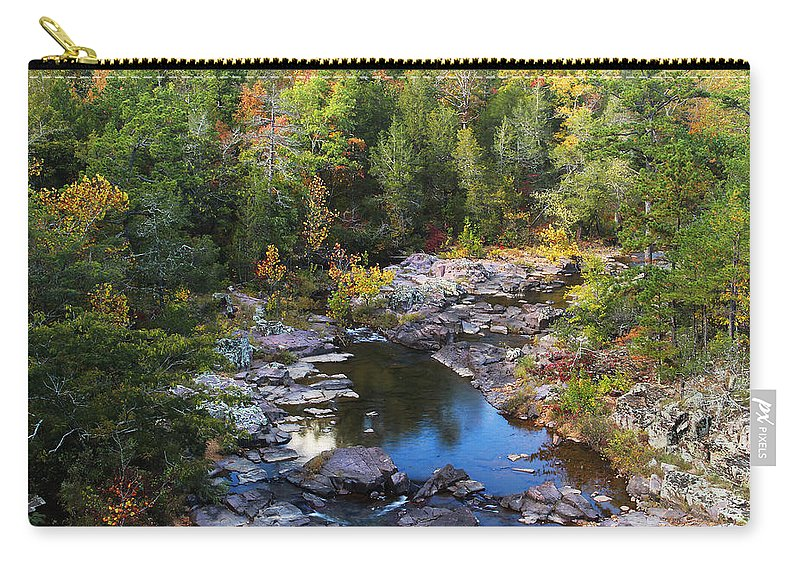 Marble Creek Carry-all Pouch featuring the photograph Marble Creek 1 by Greg Matchick