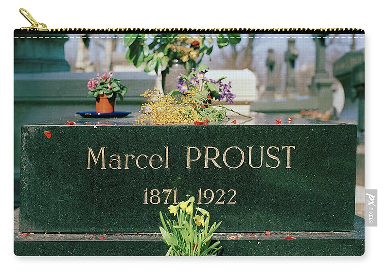 Pere Lachaise Carry-all Pouch featuring the photograph Proust by Shaun Higson