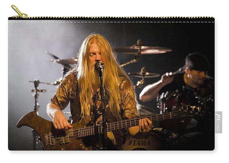 Nightwish Carry-all Pouch featuring the photograph Marco Hietala And Jukka Nevalainen - Nightwish by Saija Lehtonen