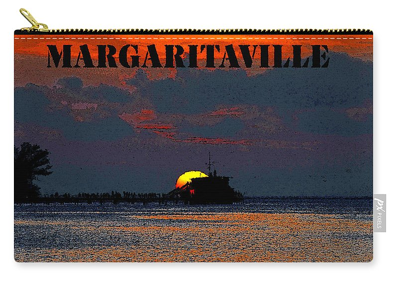 Art Carry-all Pouch featuring the painting Margaritaville by David Lee Thompson