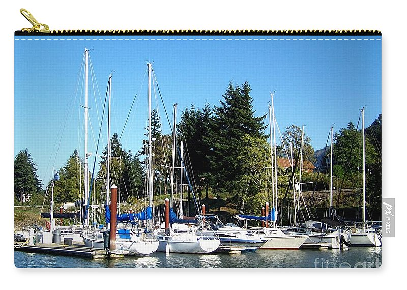 Marina Carry-all Pouch featuring the photograph Marina At Cascade Locks by Charles Robinson