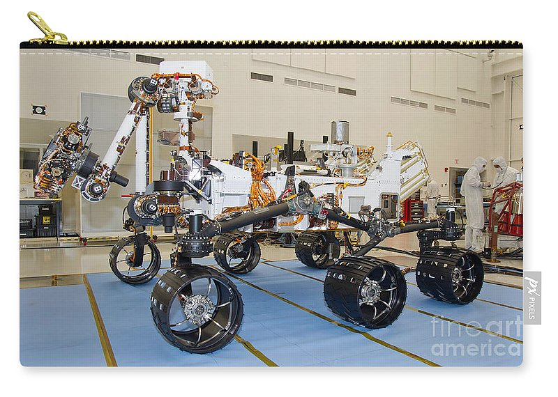 Mobility Carry-all Pouch featuring the photograph Mars Science Laboratory Rover by Stocktrek Images