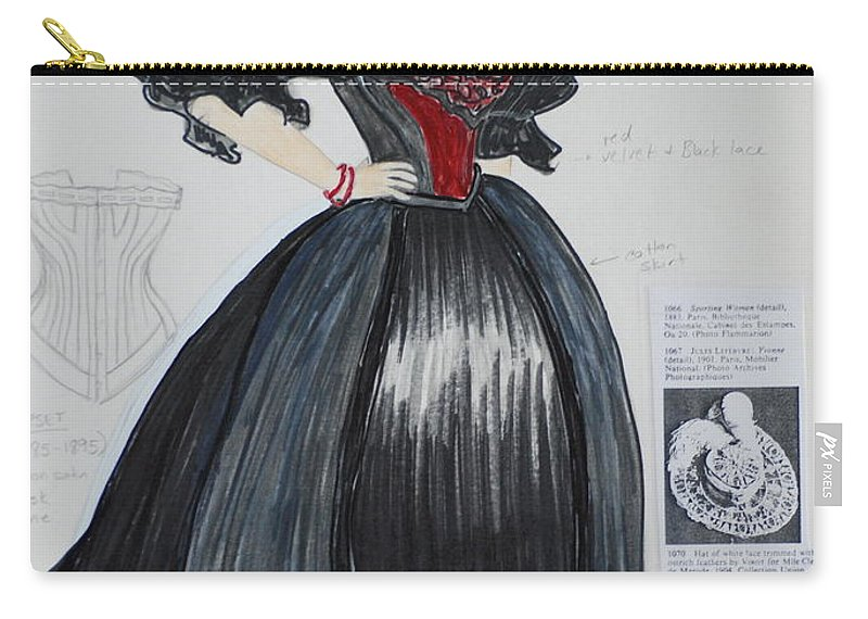Gown Carry-all Pouch featuring the mixed media Masha From 'the Three Sisters' by Jennifer Christenson
