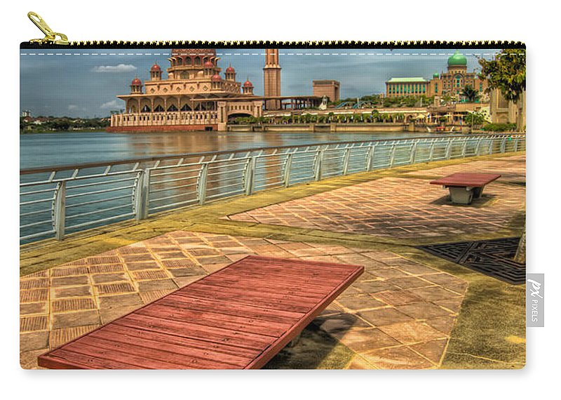 Architecture Carry-all Pouch featuring the photograph Masjid Putra by Adrian Evans