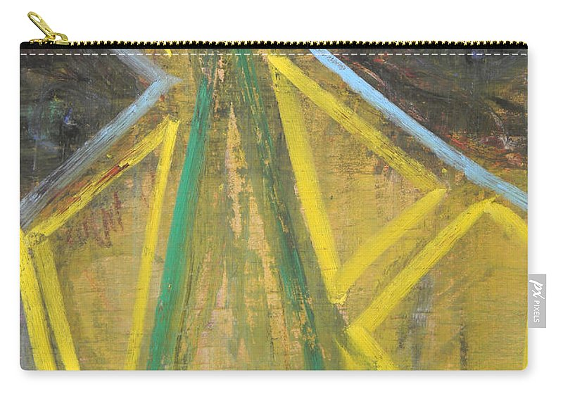 Woman Carry-all Pouch featuring the painting Masked by Marwan George Khoury