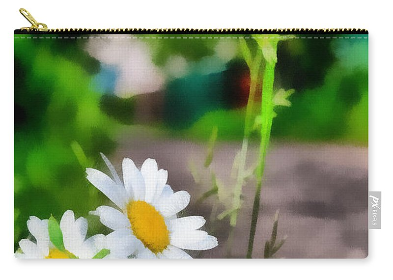 Art Carry-all Pouch featuring the photograph Matricaria by Michael Goyberg
