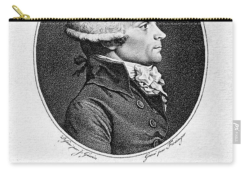 18th Century Carry-all Pouch featuring the photograph Maximilien Robespierre by Granger