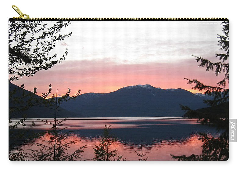Kootenay Lake Carry-all Pouch featuring the photograph May Sunset On Kootenay Lake by Leone Lund